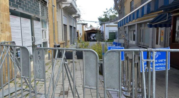Le check-point de Ledra street, à Nicosie.