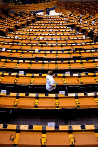 Europäisches Parlament, Brüssel, Juni 2020.