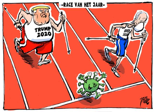 NOVEMBRE 2020, Trouw | La course de l'année, élections américaines 2020.