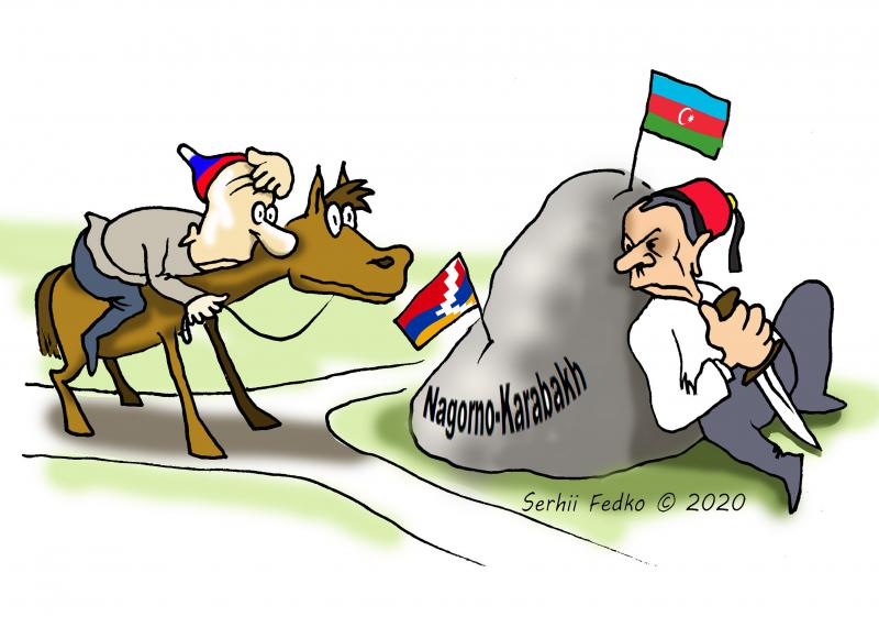 Octobre 2020, Serhii Fedko | La guerre entre Arménie et Azerbaïdjan au Haut-Karabakh.