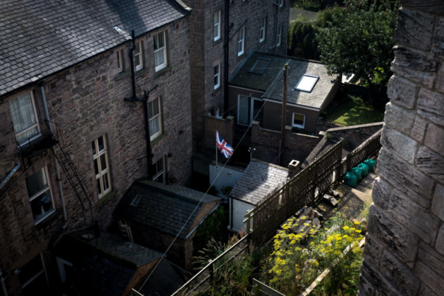 A British flag flying in the border town of Berwick-Upon-Tweed.