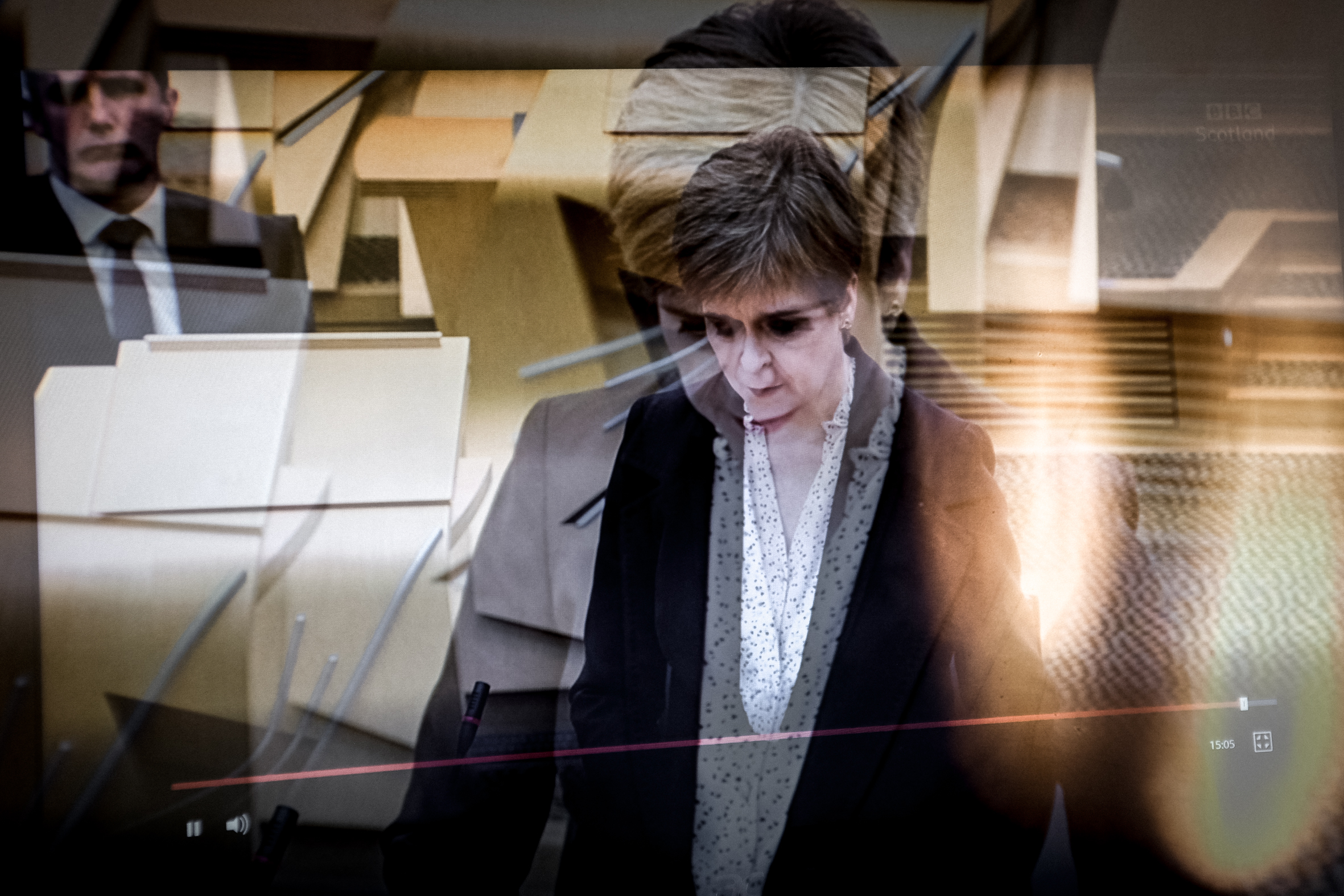 First Minister Nicola Sturgeon, at a debate on the Covid crisis.