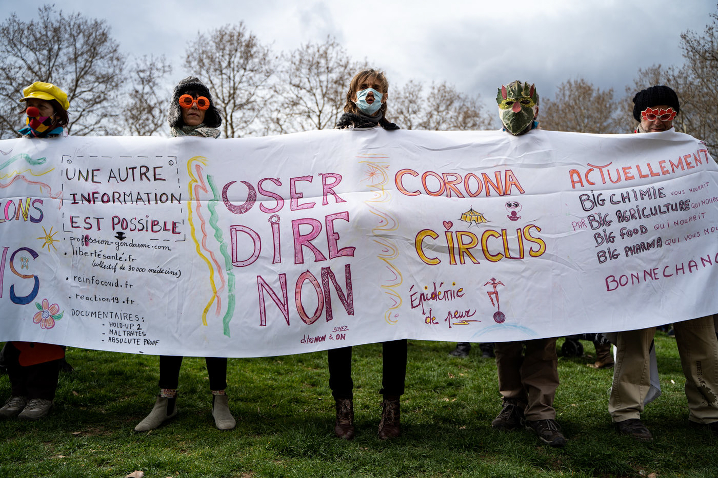 """""""Libert Air"""" rally against masks and other pandemic-related measures. Lyon, France, 13 March 2021 (Nicolas Liponne)"""
