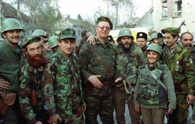 Vojislav Šeśelj in Vukovar, 1991