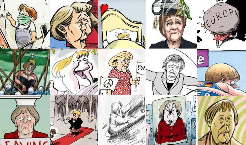 """The cartoonists' view on """"Mutti"""""""