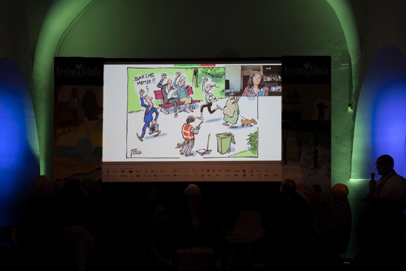 The laureates of the Libex 2021 cartoon contest