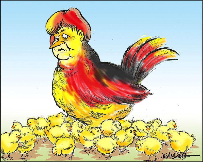 Merkel in a men's world